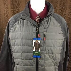 New Orvis Media Jacket Large Gray Lightweight